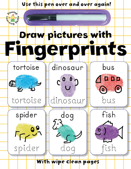 Wipe Clean Draw pictures with Fingerprints