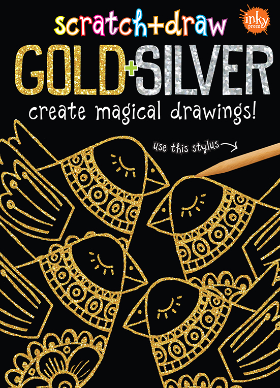 Scratch and Draw Gold and Silver