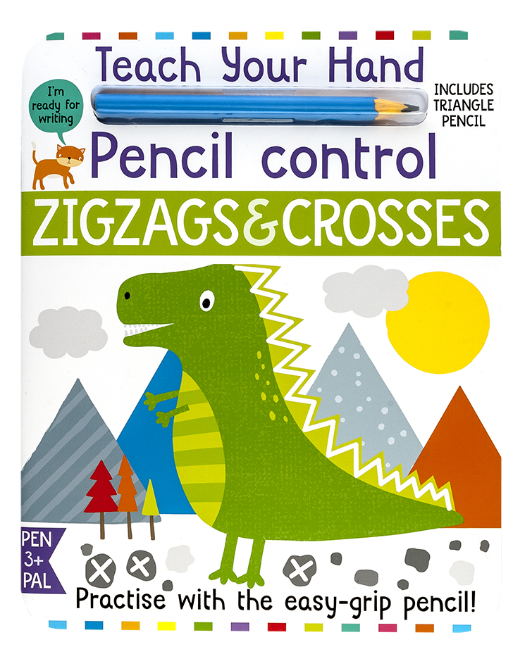 Pencil Control Zigzags and Crosses